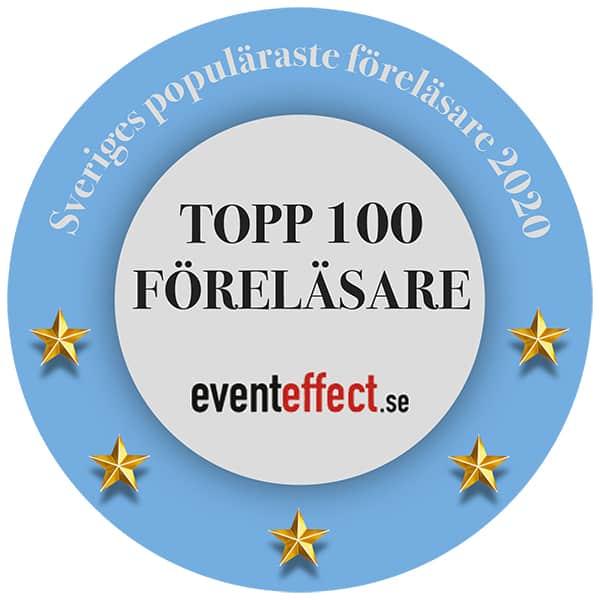 Topp100 – Sveriges populäraste föreläsare och moderatorer 2020 Patrik Nordkvist