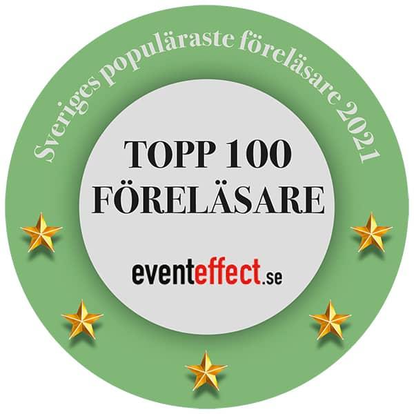 Topp100 – Sveriges populäraste föreläsare och moderatorer 2021 Patrik Nordkvist